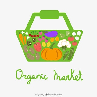 Vector mercado orgánico
