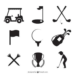 Colección de iconos golf