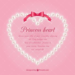 Plantilla de corazón con perlas