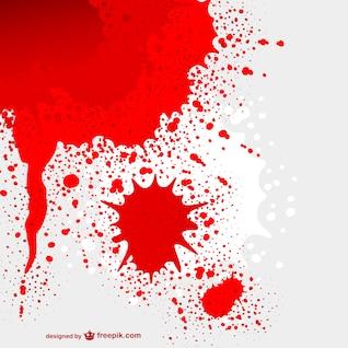 Vector mancha de sangre