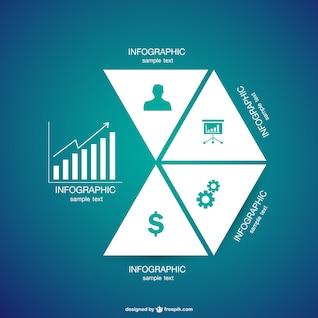 Infografía con formas triangulares