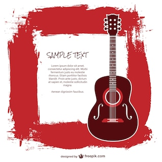 Plantilla guitarra con texto