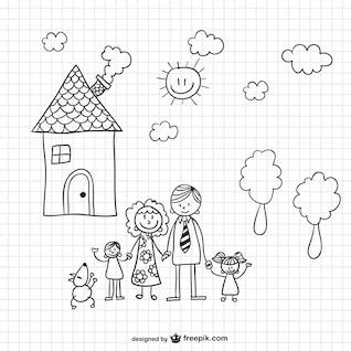 Ilustración vectorial familia
