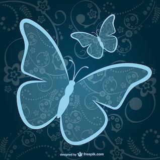Vector gratuito de mariposas