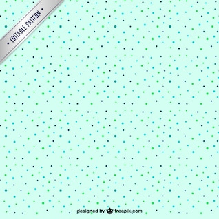 Patrón continuo de puntos de colores
