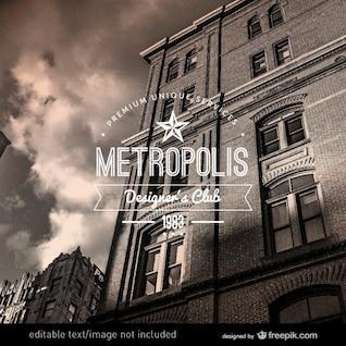 Etiqueta de ciudad vintage