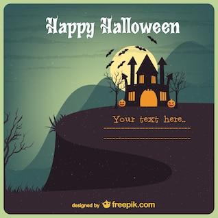 Tarjeta de Halloween vintage