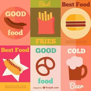 Colección de carteles de comida rápida