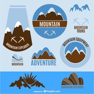 Logos y etiquetas de turismo de aventura