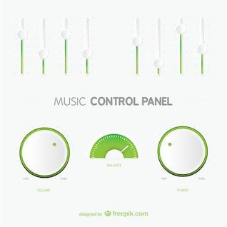 Panel de control de música