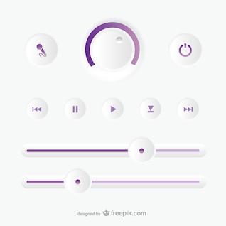 Panel de control de grabación de audio