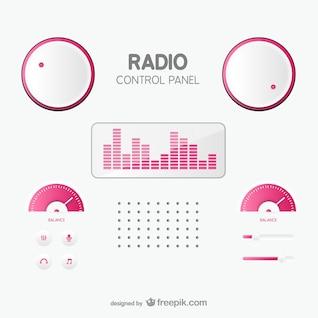 Panel de control de radio