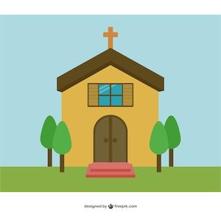 Vector de fondo con iglesia