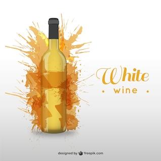 Botella de vino blanco