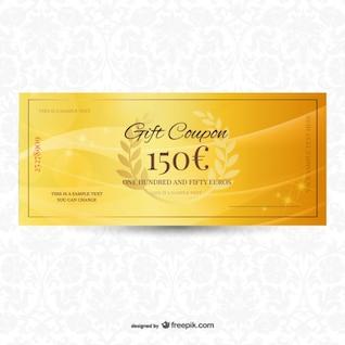 Cheque regalo dorado