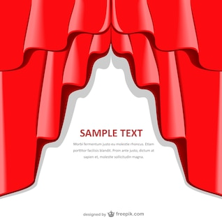 Plantilla de fondo con cortina roja