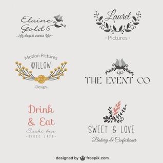 Logos florales de negocios