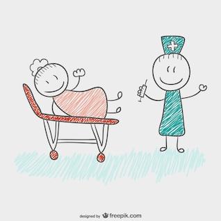 Médico dibujado por niños