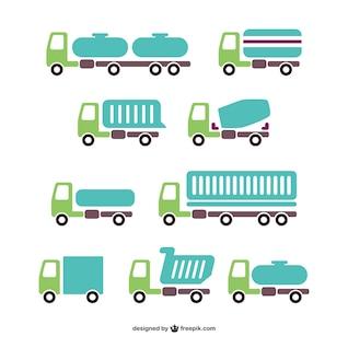 Pack de vectores de camiones