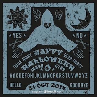 Vector Ouija para Halloween