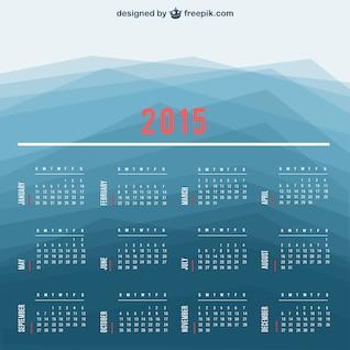 Calendario de 2015 con fondo poligonal