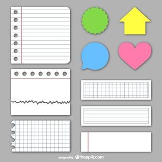 Texturas de papel y pegatinas escolares