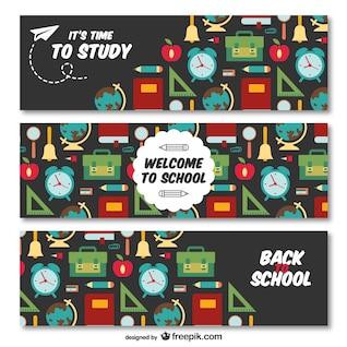Banners de vuelta a la escuela