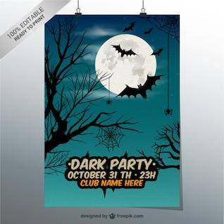 Plantilla de cartel de fiesta oscura