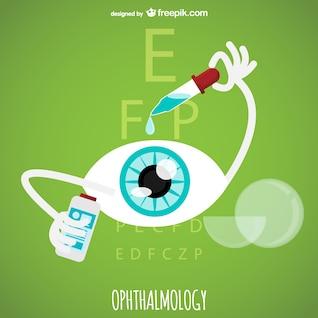 Vector de oftalmología