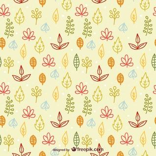 Patrón de hojas de colores