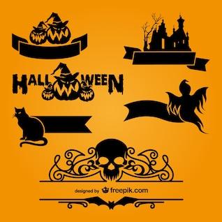 Plantillas de logotipos de Halloween