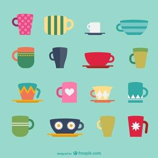 Paquete tazas de café