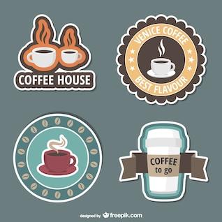 Pegatinas de cafetería