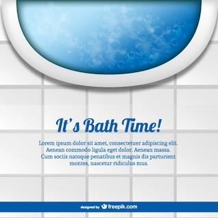 Plantilla hora del baño