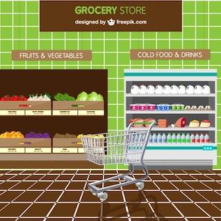 Vector de supermercado