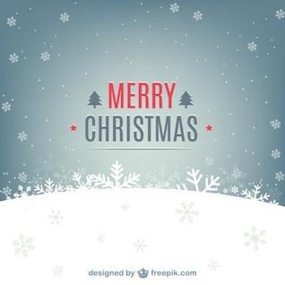 Fondo nevado con mensaje Feliz Navidad