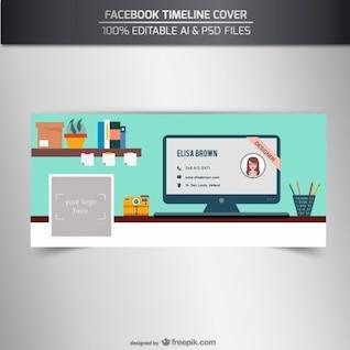 Portada de línea del tiempo de Facebook 100% editable
