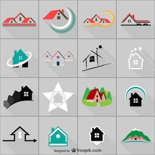 Plantillas de logotipo inmobiliario