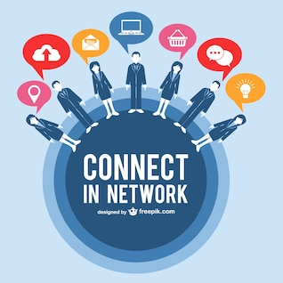 Vector de negocios en la red
