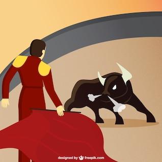 Vector corrida de toros