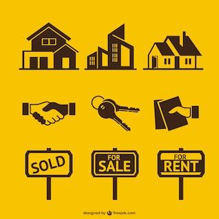 Elementos vectoriales de inmobiliaria