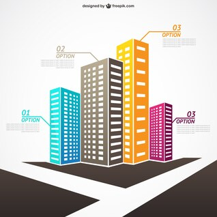 Vector infografía de inmobiliaria