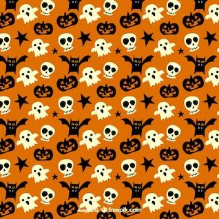 Patrón espeluznante para Halloween