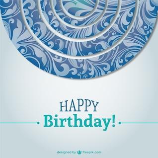 hermosa tarjeta de cumpleaños de vectores de fondo