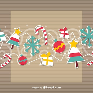 Adornos de Navidad de la vendimia