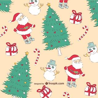 Patrón vintage de Navidad