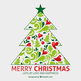 Fondo artístico de feliz Navidad