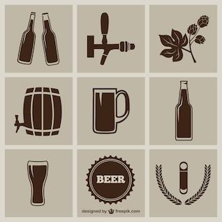 Pack de iconos de cerveza