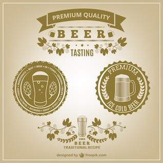 Etiquetas de la cerveza vintage