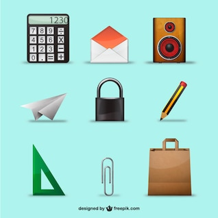 Conjunto de objetos 3D